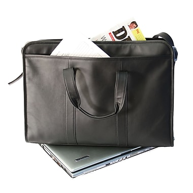 Royce Leather Soft-Sided 17in. Laptop Brief Black