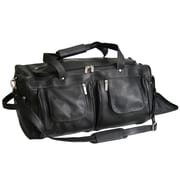 Royce Leather Leather Travel Duffel Bag Black