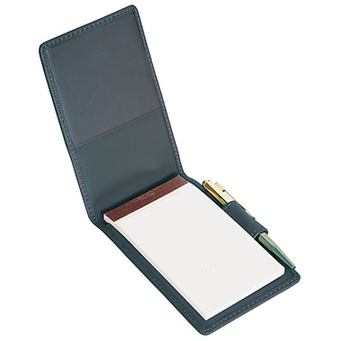Royce Leather Flip Style Note Jotter Blue