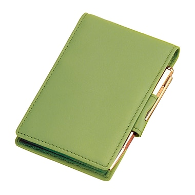 Royce Leather Flip Style Note Jotter Key Lime Green