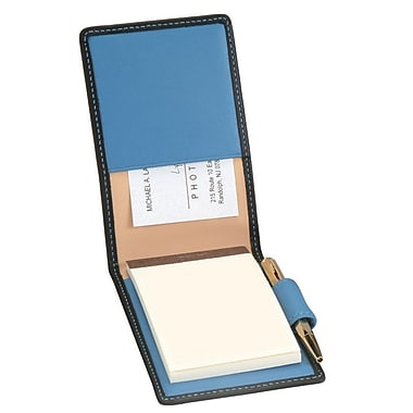 Royce Leather Flip Style Note Jotter Metro Collection Royce Blue