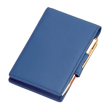 Royce Leather Flip Style Note Jotter, Royce Blue