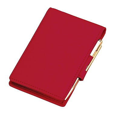 Royce Leather Flip Style Note Jotter Red