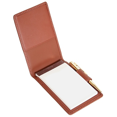 Royce Leather Flip Style Note Jotter Tan