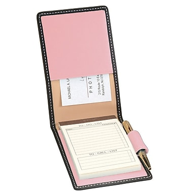 Royce Leather Deluxe Flip Style Note Metro Collection Carnation Pink