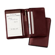 Royce Leather Note Jotter Organizer Burgundy
