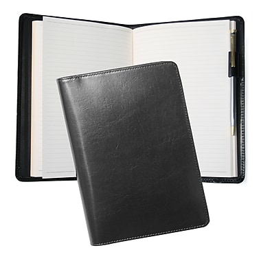 Royce Leather Aristo Journal, Black, Silver Foil Stamping, Full Name