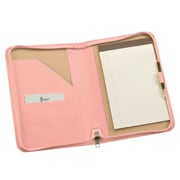 Royce Leather Zip Around Jr. Writing Padfolio Carnation Pink