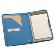 Royce Leather Zip Around Jr. Writing Padfolio Royce Blue