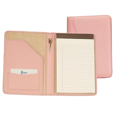 Royce Leather Writing Padfolio Carnation Pink