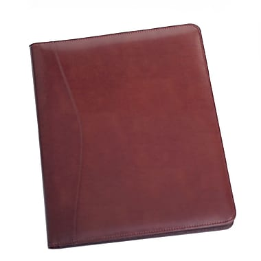 Royce Leather - Porte-document Aristo, bourgogne, estampage or, nom complet