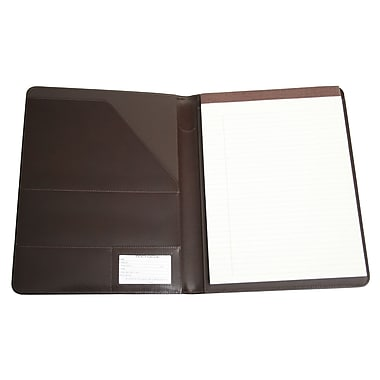 Royce Leather – Porte-document Aristo, marron, estampage doré, nom complet