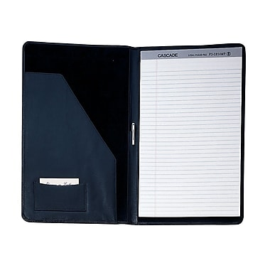 Royce Leather Envelope Portfolio, Black, Debossing, 3 Initials