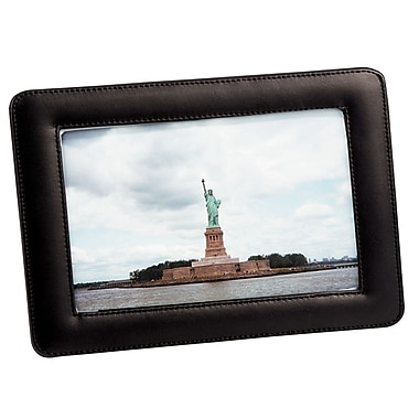 Cadre photo simple de Royce Leather, 4 x 6 po, noir