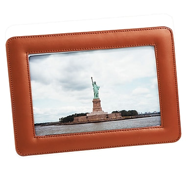 Cadre photo simple de Royce Leather, 4 x 6 po, brun clair