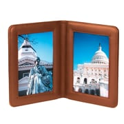 Royce Leather Top Grain Nappa Leather 5 x 7 Picture Frame Tan