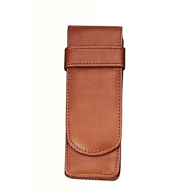 Royce Leather Double Pen Case, Tan