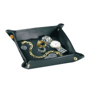 Royce Leather Man-Made Leather Travel Valet Tray, Black