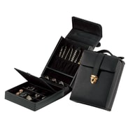 Royce Leather  Ladies Jewelry Case Black