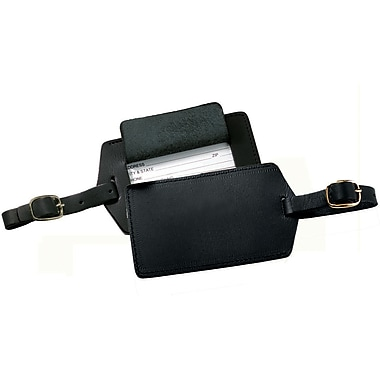 Royce Leather Luggage Tag Black