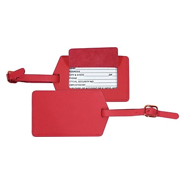 Royce Leather Luggage Tag Red
