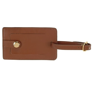 Royce Leather Snap Luggage Tag Tan