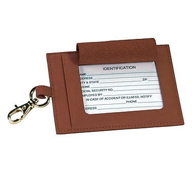Royce Leather Large Genuine Luggage Tag Tan