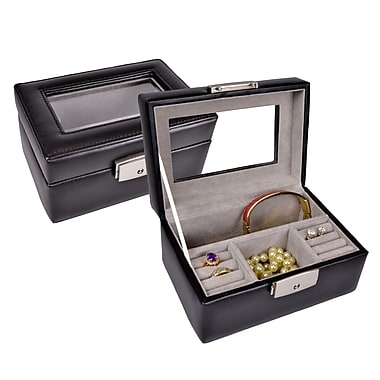 Royce Leather Jewellery Box, Black