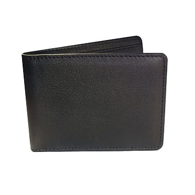 Royce Leather RFID Blocking Tuxedo Wallet Black