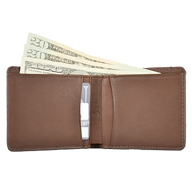 Royce Leather RFID Blocking Tuxedo Wallet, Coco