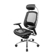 At the Office ONE Series Mesh Executive High-Back Chair, Black
