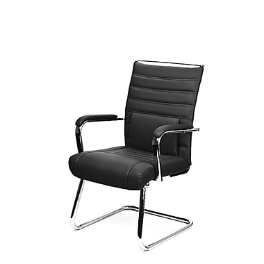 At The Office 4 Series Guest Chair, Black Alterna Leather