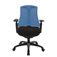 At The Office 10 Series Task Chair , Blue Back