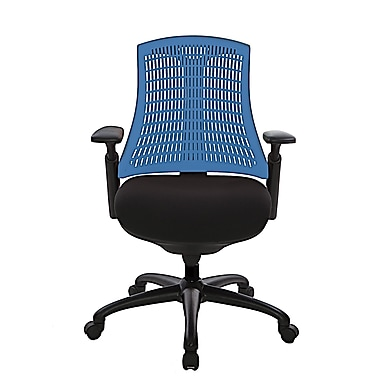 @theOffice® 10 Series Supportiveflex Task Chair With Adjustable Arms & Synchro Tilt Mechanism, Blue Back
