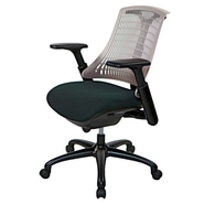 At The Office 10 Series Task Chair , Grey Back