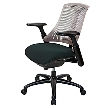 @theOffice® 10 Series Supportiveflex Task Chair With Adjustable Arms & Synchro Tilt Mechanism, Gray Back