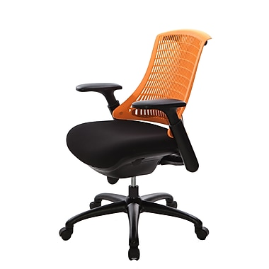 @theOffice® 10 Series Supportiveflex Task Chair With Adjustable Arms & Synchro Tilt Mechanism, Orange Back