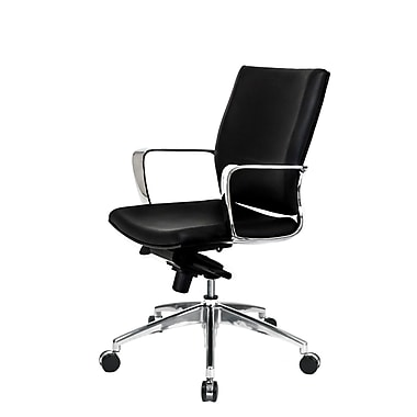 At The Office 11 Series Alterna Leather Conference Chair , Black