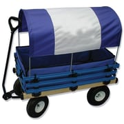"Millside Industries 20"" x 38"" Covered Wooden Wagon with Pads"