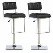 CorLiving  Adjustable Bar Stool Black
