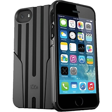 iSkin Exo iPhone 5/5S Case, Black/Carbon