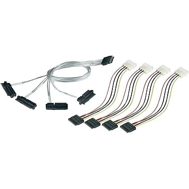 Adaptec 2232000-R 3.28' SFF-8087 to SFF-8482 Fanout Cable, Multi