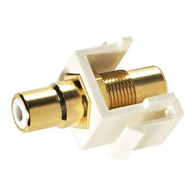 STEREN® Keystone RCA Modular Insert W/White Insulator, White