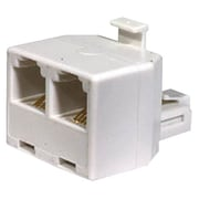 STEREN® 300-024 RJ-11 Male/Female Telephone Adapter, White