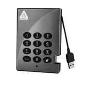 Apricorn Aegis Padlock Secure 750GB USB 2.0 External Hard Drive With 256-Bit AES Encryption