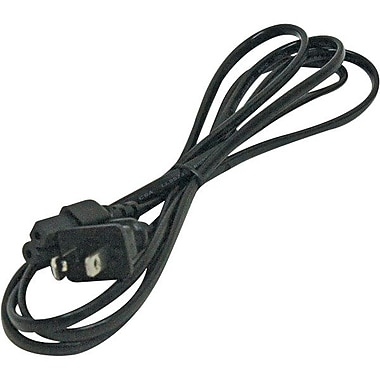 STEREN® 6' Standard Power Cord, Black