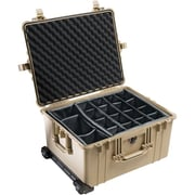 Pelican™19.4 x 13.8 x 24.6 Case With Padded Dividers, Black