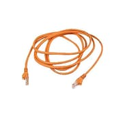 Belkin™ 25' Cat5e RJ45/RJ45 Assembled Duplex Patch Cable, Orange