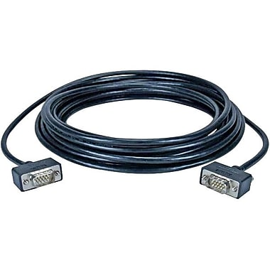 QVS® 25' High Performance Ultra Thin HD-15 Male VGA Cable, Black