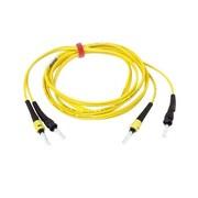 Belkin™ 6.6' Fiber Optic ST/ST Duplex Patch Cable, Yellow